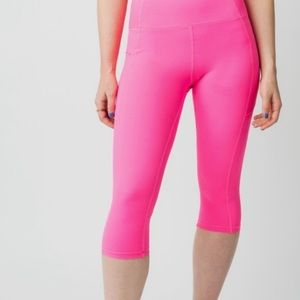 Zyia Hot Pink Pocket Light and Tight Legging